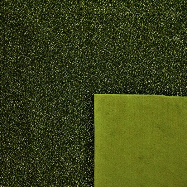 [Velluto e Lurex] Velluto e Lurex 50x35cm (Verde)