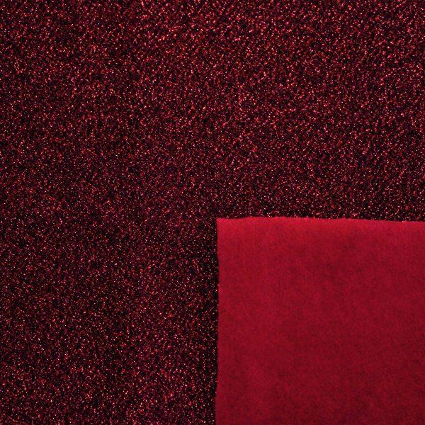 [Velluto e Lurex] Velluto e Lurex 50x35cm (Rosso)